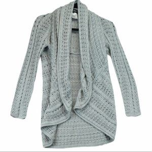 Papillon Knit Cocoon Cardigan Sweater